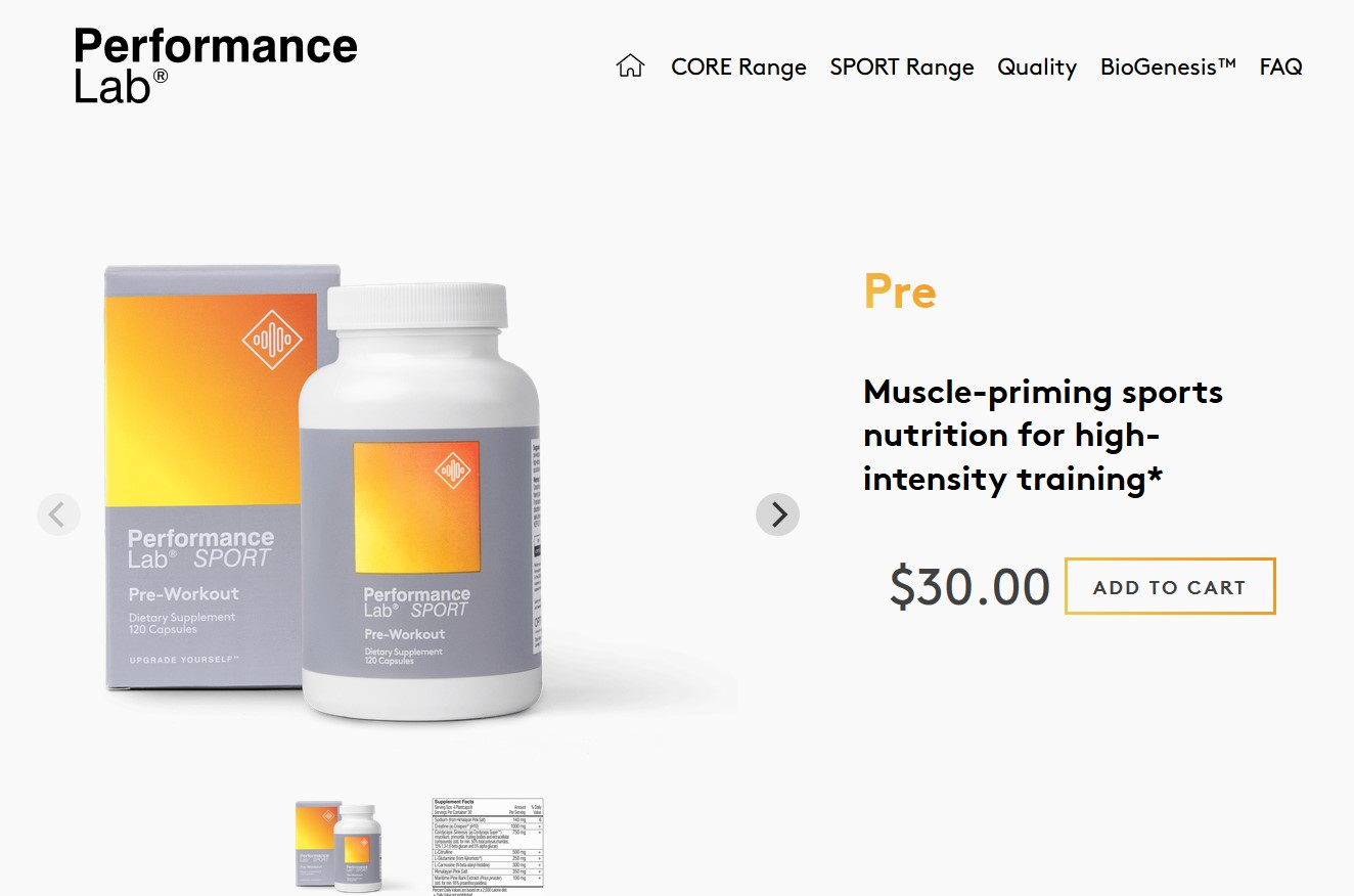performance lab sport pre workout official website