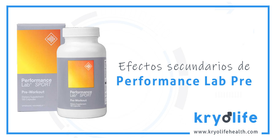 Efectos secundarios de Performance Lab Sport Pre
