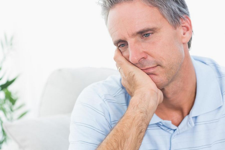 depressed man with low testosterone